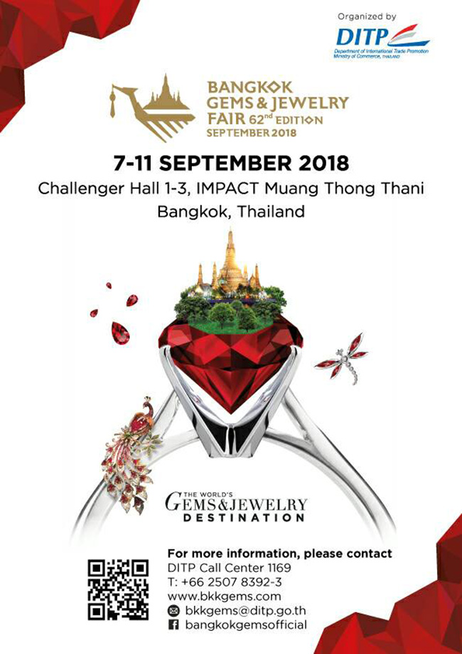 Bangkok Gems & Jewelry Fair 62nd Edition September 2018