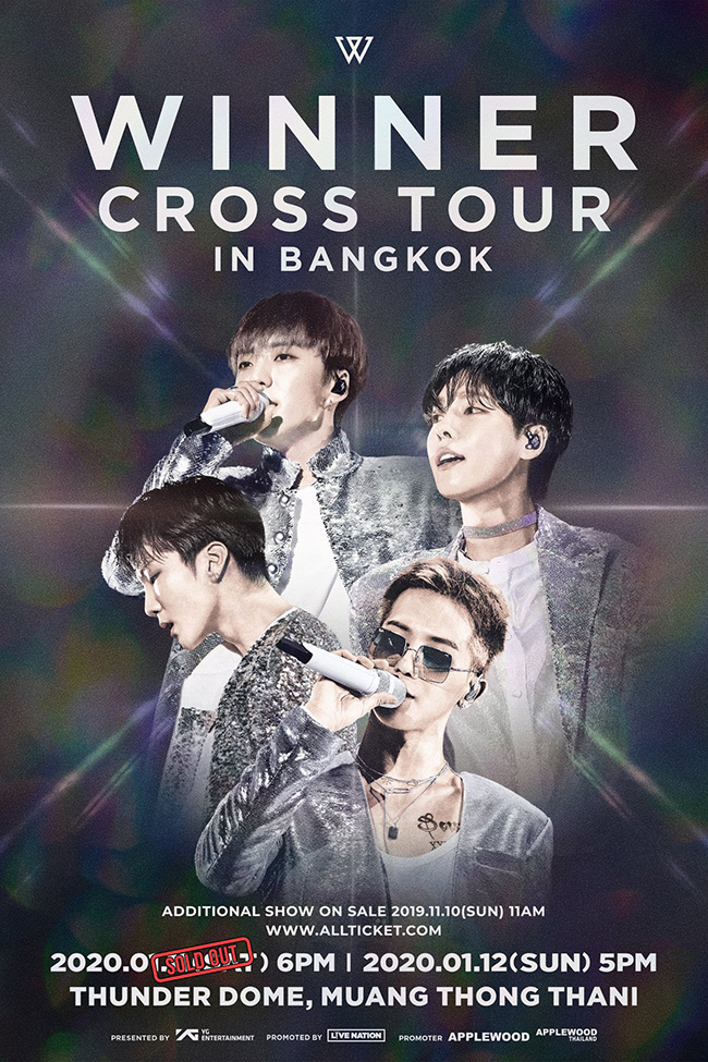 WINNER CROSS TOUR IN BANGKOK