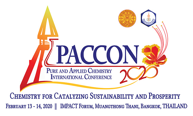 PACCON 2020 (Pure and Applied Chemistry International Conference 2020) : Chemistry for Catalyzing Sustainability and Prosperity
